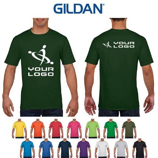 Premium Cotton Shirt Uomo T Gildan WHED92I